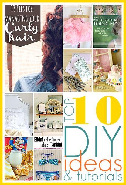 Top 10 DIY Ideas and tutorials. I love the Bikini into Tankini idea... Brilliant!