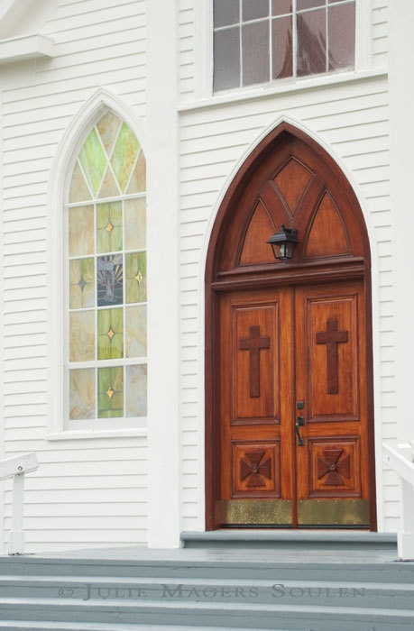 beautiful church door
