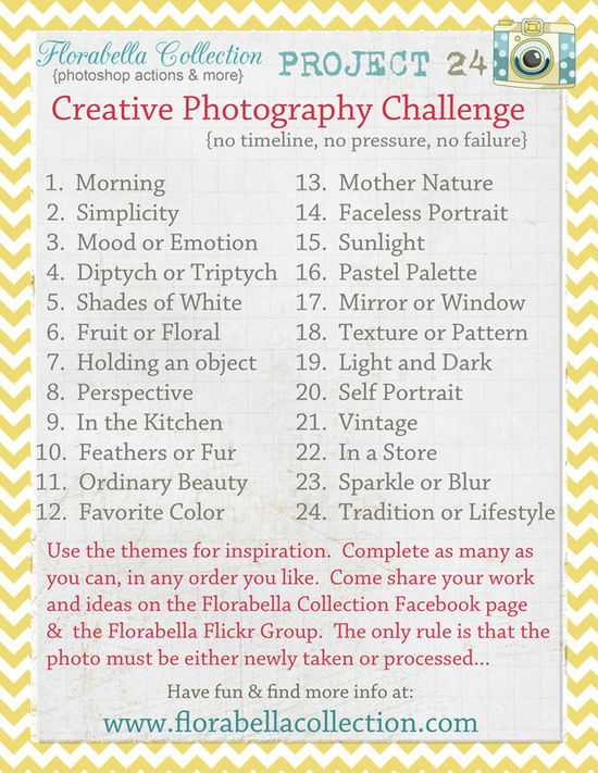 Photo challenge list