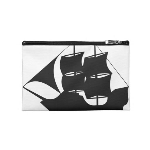 Pirate Ship Silhouette Travel Accessory Bag