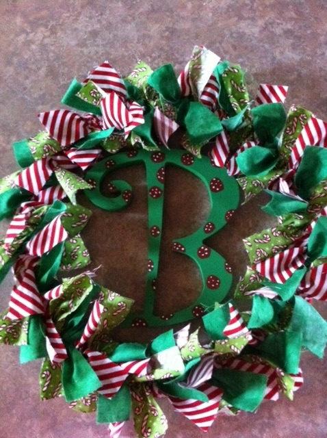 Christmas Rag Wreath