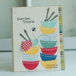 Don't Fret, Dearie Card by Betsy Veldman for Papertrey Ink (November 2012)