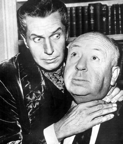 Vincent Price and Alfred Hitchcock