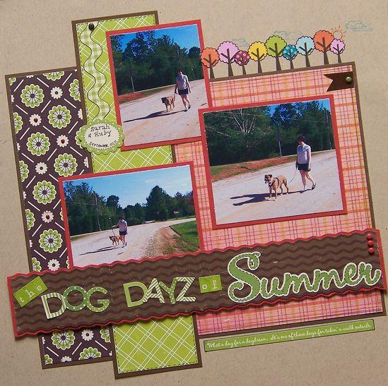 The Dog Dayz of Summer - Scrapbook.com Layout