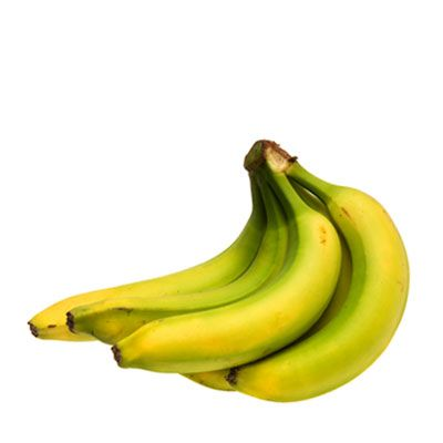 Insider secret  Choose a banana that's tinged with a little green for even more Resistant Starch. Once the fruit ripens, the starches in it turn to sugar, and the amount of Resistant Starch it contains drops.     An underripe banana has 12.5 grams of RS (enough to take care of the minimum 10 grams of RS daily that's recommended in The CarbLovers Diet); a ripe one has 4.7 grams.