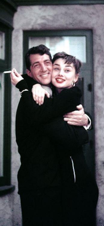 Dean Martin and Audrey Hepburn