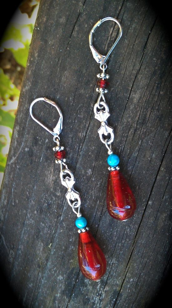 Gypsy woman Handmade earrings #nwa express yourself #handmade journals #diy #handmade marbles #handmade bow