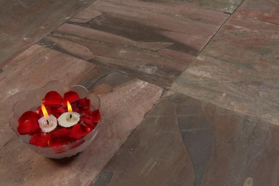 Pink Slate Natural Slate Stone Tiles floor