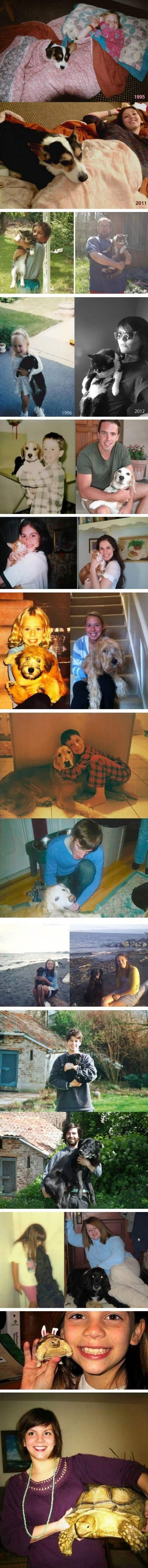 Owners and their pets - many years later #CrazyPics