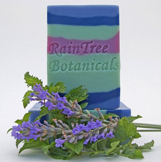 Lavender-Mint Cold Process Soap with Olive Oil, Avocado Oil and Shea Butter