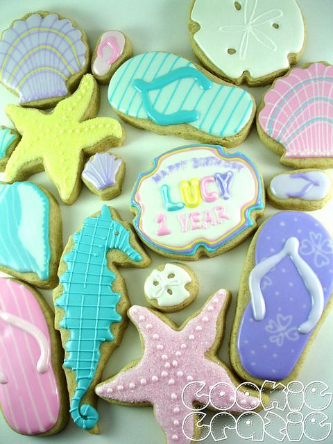 Pastel Spring Beach Cookies - I love, love, love these!