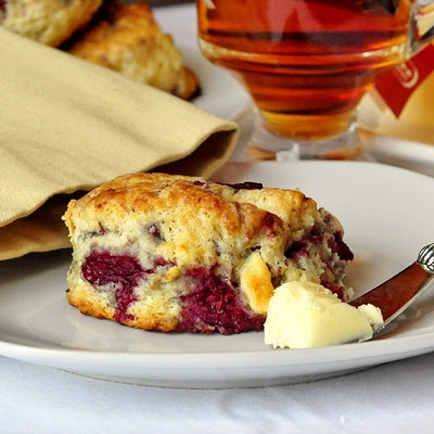 Raspberry White Chocolate Scones. #food #scones #breakfast #brunch #tea_party