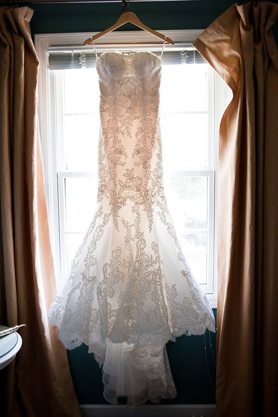 Enzoani wedding gown...love the lace!
