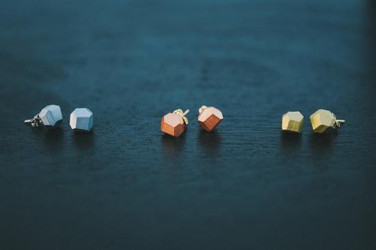 metallic earrings from AMM Jewelry