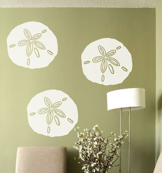 Beach Decor Sand Dollar Vinyl wall decal sticker by HouseHoldWords, $59.00