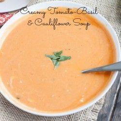 Tomato Basil Cauliflower Soup