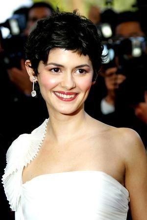Audrey Tautou short hair.