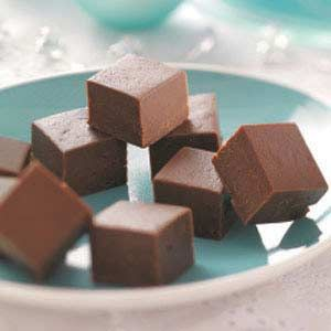 Bavarian Mint Fudge Recipe from Taste of Home -- With just six ingredients, it couldn't be any easier to make.
