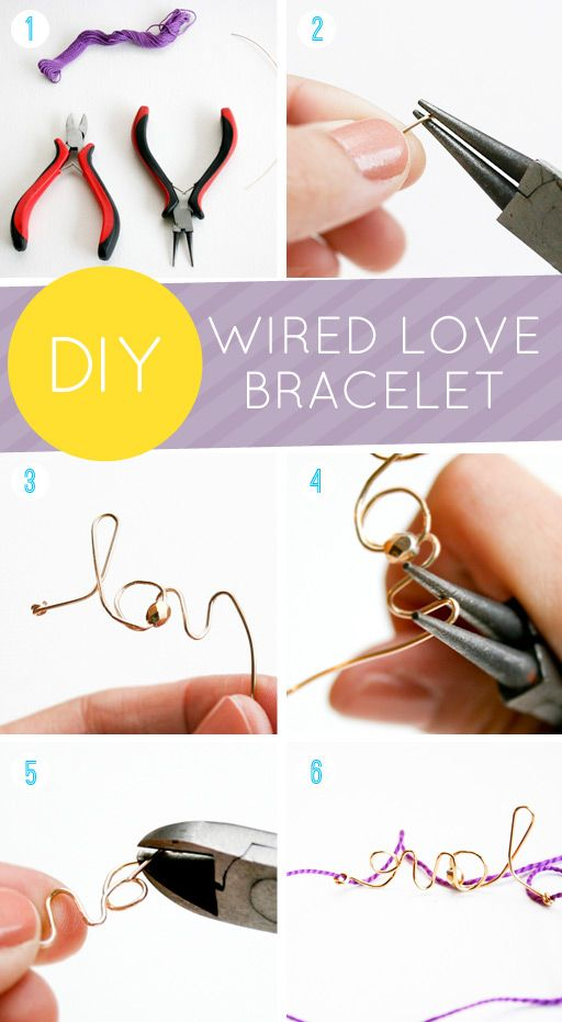 diy wired bracelet