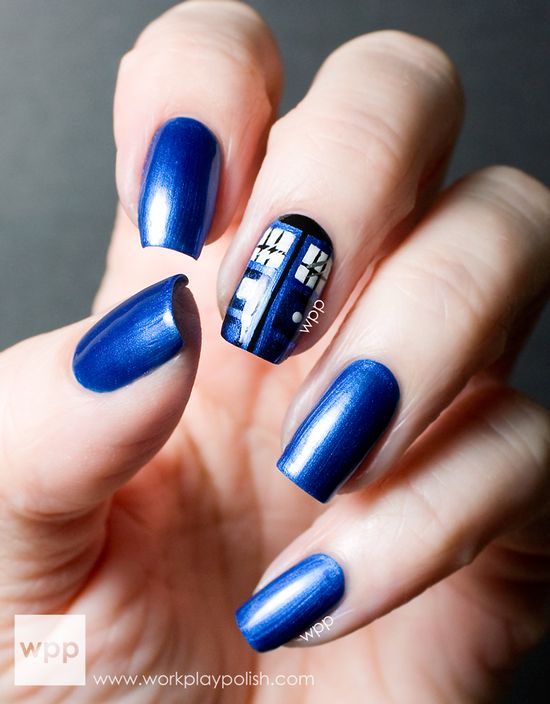 work / play / polish - doctor who #nail #nails #nailart