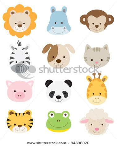 baby animal faces.. for the nursery. :)
