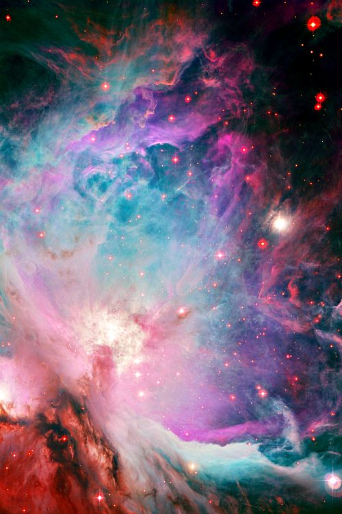 weareallstarstuff:  Orion Nebula; I always loved the colours in the Orion nebula, so beautiful