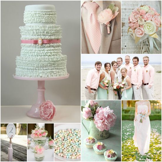 maybe not the mint wedding cake--but the rest is cute! that cake would be cute for a shower!