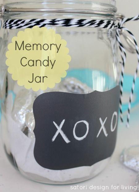Handmade gift idea under $10 perfect for grandparents- Memory Candy Jar #handmadegift