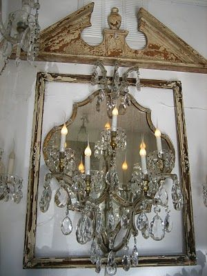 Shabby Chic, Paris, French, Chandelier