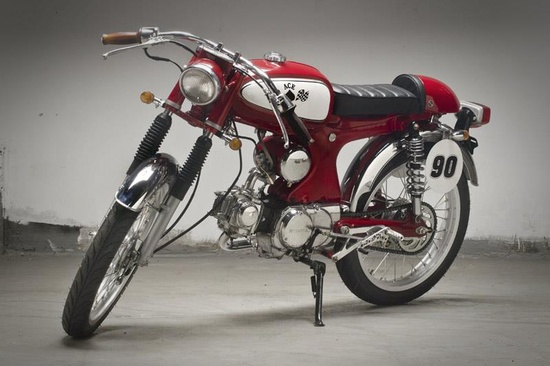 How neat is this little Ace cafe racer?