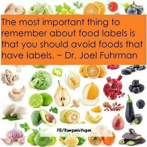 Avoid foods that have labels. #health #food #labeling