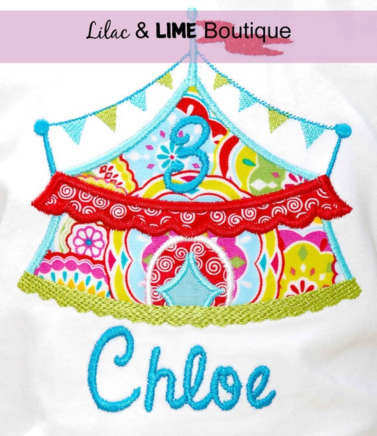 Circus Themed Birthday Shirt optional bow by LilacAndLime on Etsy, $24.00
