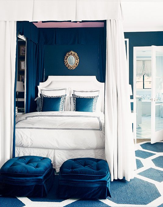 Gorgeous blue bedroom