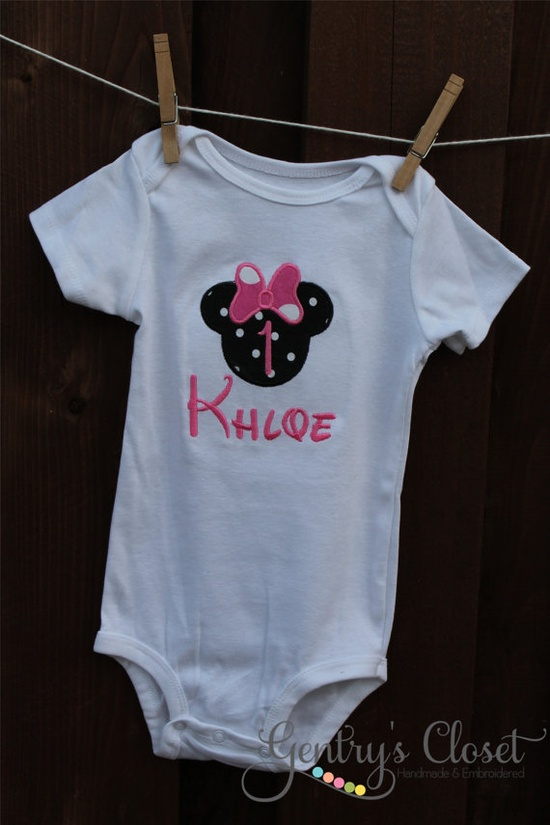Minnie Mouse Baby Girl Clothes  Mouse Ears Shirt by GentrysCloset, $20.00