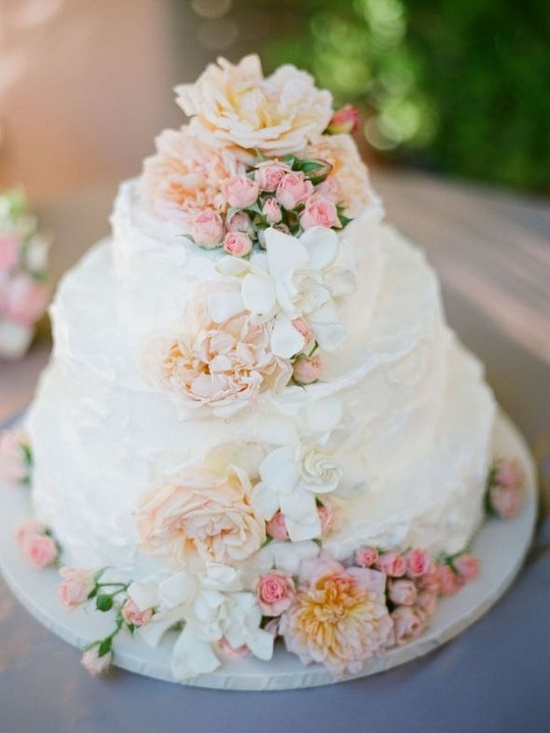 buttercream frosted wedding cake