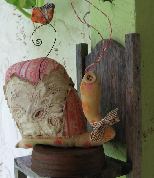 Along The Way Snail by Baggaraggs on Etsy, $37.99