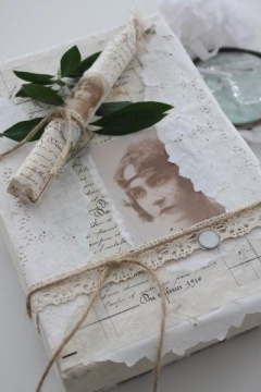 gift wrapping #gift #wrapping #giftwrapping #diy #shabbychic #vintage