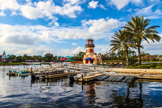 Disney's Caribbean Beach Resort marina