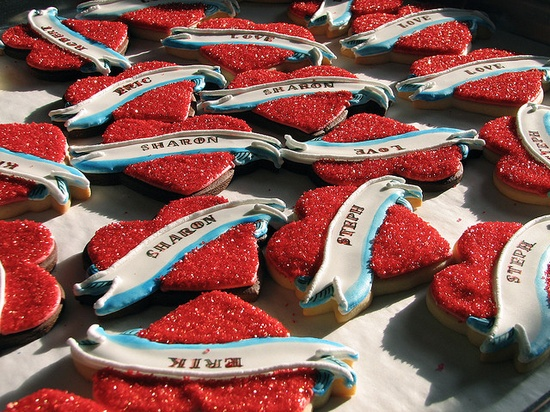 Tattoo Heart Valentine Cookies