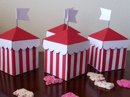 Circus Tent Boxes Party Favor Candy Holder