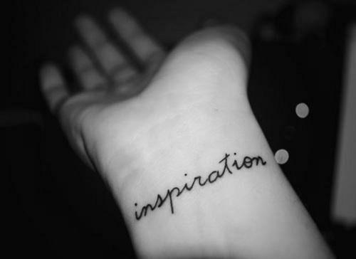 Inspiration text tattoo