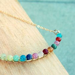 beaded wire necklace - tutorial