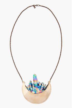 Pamela Love crystal crescent necklace