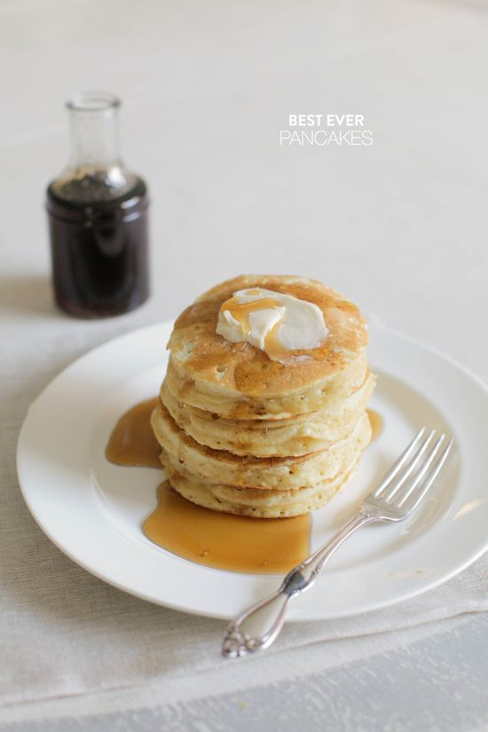 #Recipe - Best Pancakes EVER  Read more - www.stylemepretty...