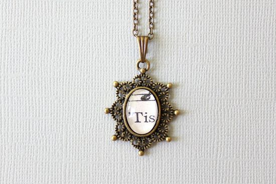 Tiny sheet music necklace  One of a kind pendant by GildedNotes, $27.00