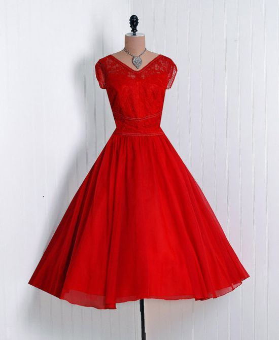 1950's Vintage Emma Domb lace dress