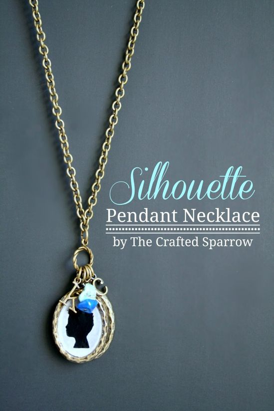 DIY Silhouette Necklace