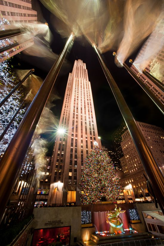 NYC. Christmas at Rockefeller Center