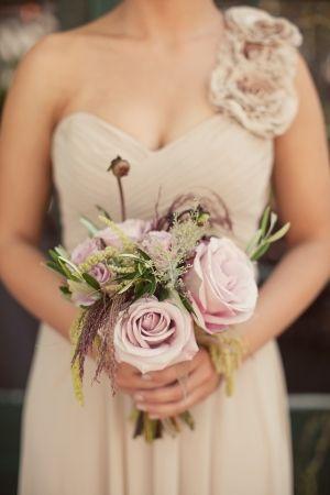 soft rose bouquet // photo by AshleyRosePhotogr...