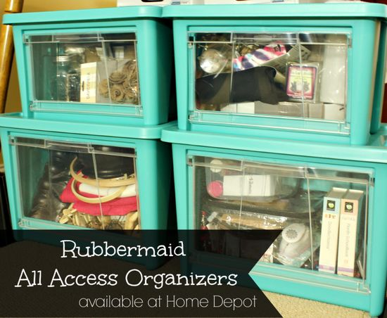 Love these new #AllAccessOrganizer bins that Rubbermaid is selling at Home Depot! #pmedia